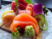 Colorful Sashimi set. Fresh seafood set from Okura hotel Bangkok Royalty Free Stock Image