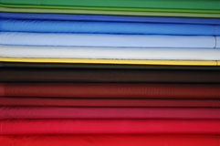 Colorful satin fabrics Royalty Free Stock Images