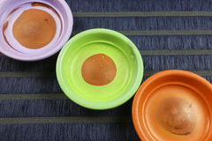 Colorful saucers Royalty Free Stock Images