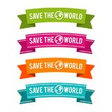 Colorful Save the World ribbons. Eps10 Vector. vector illustration