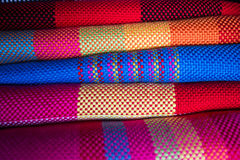 Colorful scarf. Chinese colorful traditional handwork scarfs Royalty Free Stock Images