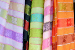 Colorful scarf and fabric thai style for sale and local clothes Royalty Free Stock Image