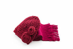 Colorful of scarf and hat. Royalty Free Stock Photography