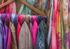 Colorful Scarfes Royalty Free Stock Photography