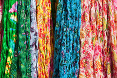 Colorful scarfs Royalty Free Stock Photography