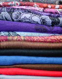 Colorful scarfs background Stock Photo