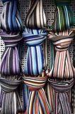 Colorful scarfs background in street market. Accessory, Scarfs, Different,Textures And Colors. Accessory Royalty Free Stock Photo