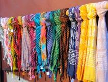 Colorful scarfs bandanas royalty free stock photos