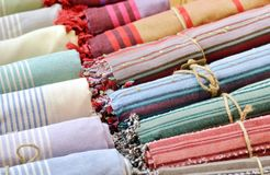 Colorful scarfs Stock Image