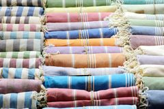 Colorful scarfs Royalty Free Stock Photo