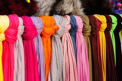 Colorful scarfs Stock Photography