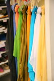 Colorful scarfs in a shop Stock Photography