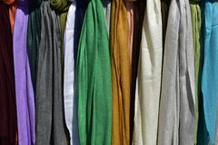 Colorful Scarfs Royalty Free Stock Images