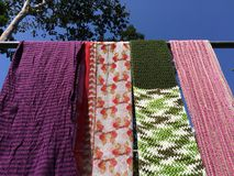 Colorful scarfs. Royalty Free Stock Photography