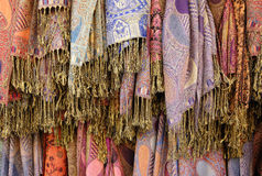 Colorful scarves. Royalty Free Stock Photos