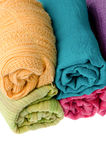 Colorful scarves Stock Images