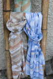 Colorful scarves. As a background Stock Image