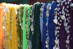 Colorful Scarves for Belly Dancing Stock Photo