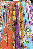 Colorful scarves stock photo