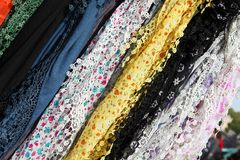 Laced scarves Stock Images
