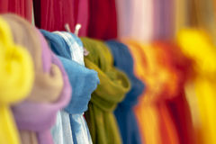 Colorful scarves. With narrow depth of filed Stock Photo