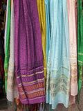 Colorful Scarves, Plaka, Athens Royalty Free Stock Photography