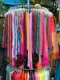 Colorful Scarves, Plaka, Athens Stock Photography