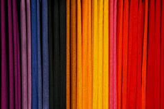Colorful Scarves on a Rack Stock Photo