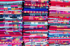 Colorful scarves. Selling in the store of Old Town of Lijiang.Yunnan Stock Images