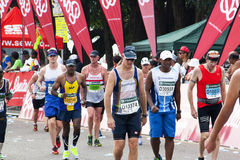 Colorful Scenes as Participants compete in 2014 Comrades Maratho Royalty Free Stock Image
