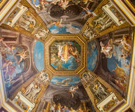 Colorful Scenes on Vatican Ceiling Dome Royalty Free Stock Image