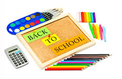 Colorful school accessories Stock Photography
