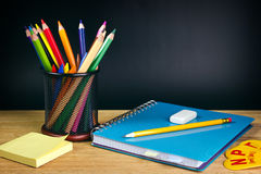 Colorful school accessories Royalty Free Stock Image
