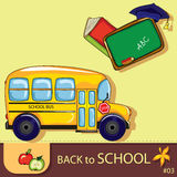 Colorful school background Royalty Free Stock Images