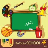 Colorful school background Stock Images
