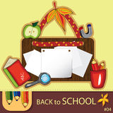 Colorful school background Stock Photography
