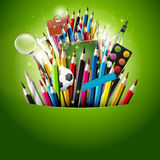 Colorful school background Stock Photos