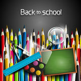 Colorful school background Stock Photo
