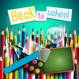 Colorful school background Stock Image