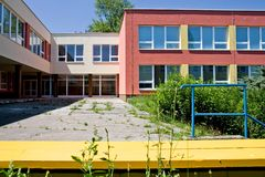Colorful school building Stock Image