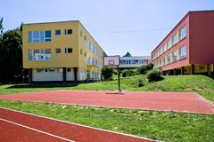 Colorful school building Royalty Free Stock Photo