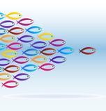 Colorful school of fish icon. Vector illustration Stock Photo