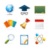 Colorful School Icon Set. Vector Stock Photos