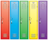 Colorful school lockers royalty free illustration
