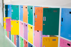 Colorful school lockers Stock Image