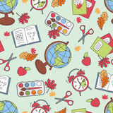 Colorful school  pattern Royalty Free Stock Images