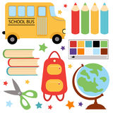 Colorful school set. A cute colorful school set Royalty Free Stock Photography