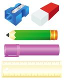 Colorful school set Royalty Free Stock Photo