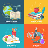 Colorful School Square Concept Royalty Free Stock Images