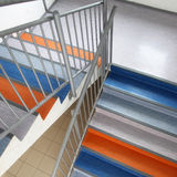 Colorful school staircase Stock Images